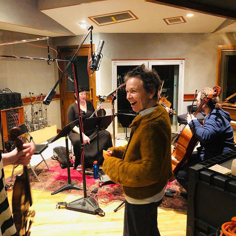 Laurie Anderson, Marc Urselli session with RS-2, East Side Sound Studio, USA