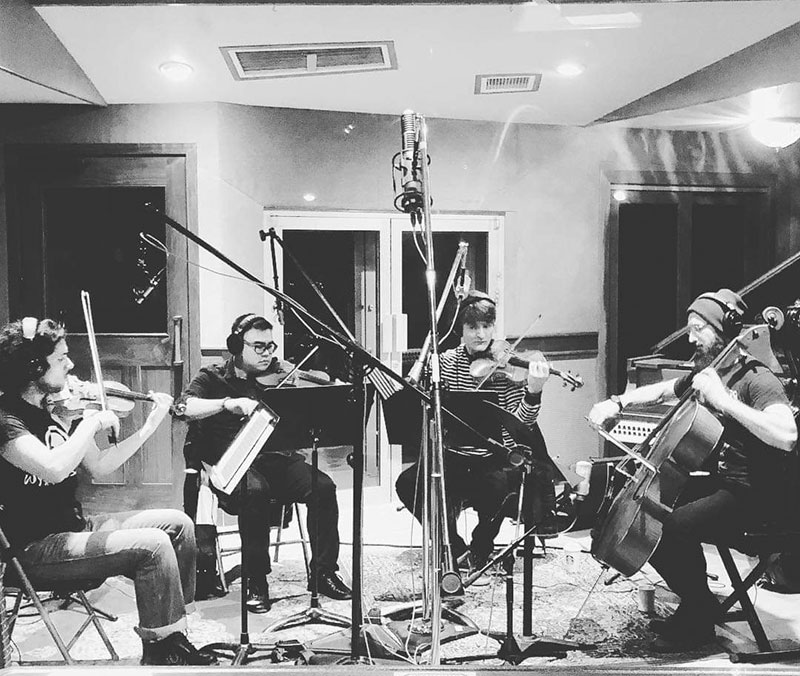 Kronos Quartet, Marc Urselli session with RS-2, East Side Sound Studio, USA